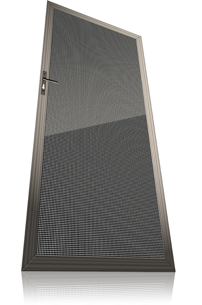 aluminium perforated security doors
